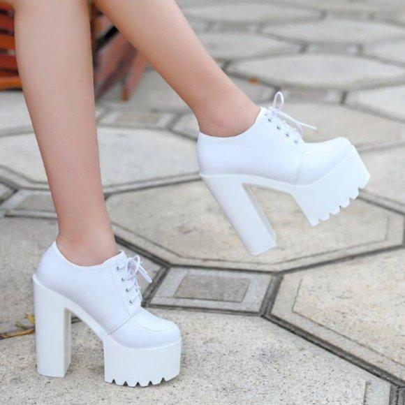 Shoes | New Super Tall Platform White